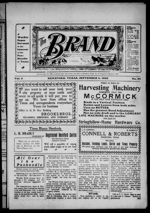 The Brand (Hereford, Tex.), Vol. 2, No. 29, Ed. 1 Friday, September 5, 1902