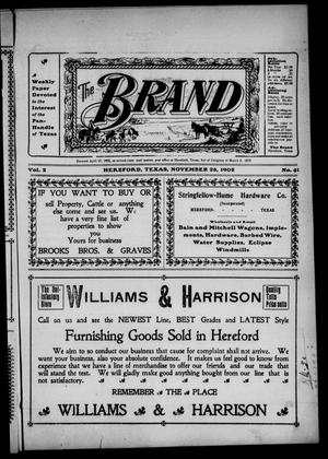 Primary view of object titled 'The Brand (Hereford, Tex.), Vol. 2, No. 41, Ed. 1 Friday, November 28, 1902'.