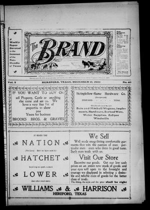 The Brand (Hereford, Tex.), Vol. 2, No. 43, Ed. 1 Friday, December 12, 1902