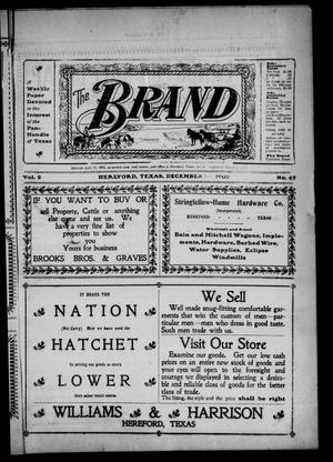 Primary view of object titled 'The Brand (Hereford, Tex.), Vol. 2, No. 45, Ed. 1 Friday, December 26, 1902'.