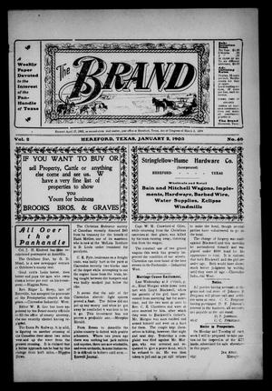 The Brand (Hereford, Tex.), Vol. 2, No. 46, Ed. 1 Friday, January 2, 1903