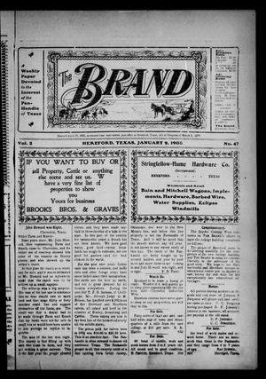 Primary view of object titled 'The Brand (Hereford, Tex.), Vol. 2, No. 47, Ed. 1 Friday, January 9, 1903'.