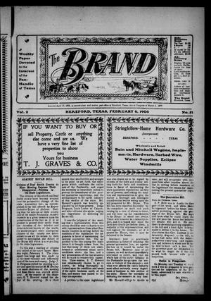 Primary view of object titled 'The Brand (Hereford, Tex.), Vol. 2, No. 51, Ed. 1 Friday, February 6, 1903'.