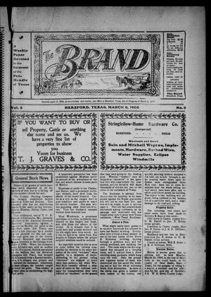 Primary view of object titled 'The Brand (Hereford, Tex.), Vol. 3, No. 3, Ed. 1 Friday, March 6, 1903'.