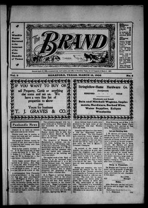 Primary view of object titled 'The Brand (Hereford, Tex.), Vol. 3, No. 4, Ed. 1 Friday, March 13, 1903'.