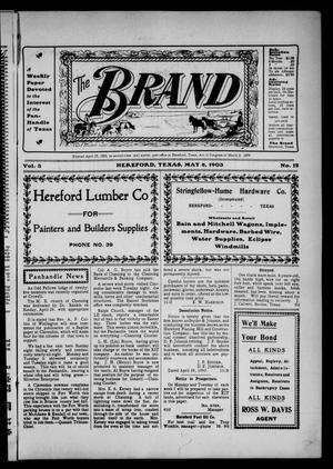 Primary view of object titled 'The Brand (Hereford, Tex.), Vol. 3, No. 12, Ed. 1 Friday, May 8, 1903'.