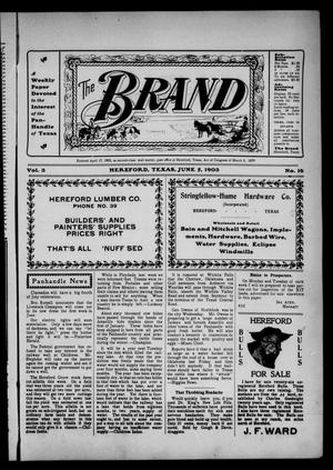 The Brand (Hereford, Tex.), Vol. 3, No. 16, Ed. 1 Friday, June 5, 1903