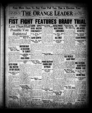 Primary view of object titled 'The Orange Leader (Orange, Tex.), Vol. 16, No. 161, Ed. 1 Monday, January 27, 1930'.