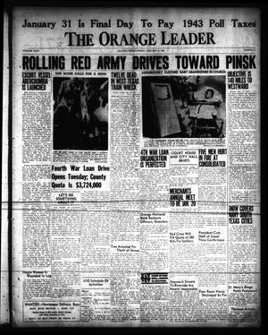 Primary view of object titled 'The Orange Leader (Orange, Tex.), Vol. 31, No. 11, Ed. 1 Friday, January 14, 1944'.