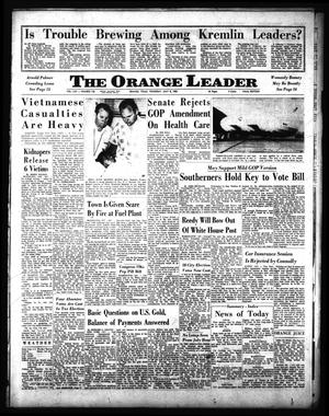 Primary view of object titled 'The Orange Leader (Orange, Tex.), Vol. 62, No. 158, Ed. 1 Thursday, July 8, 1965'.