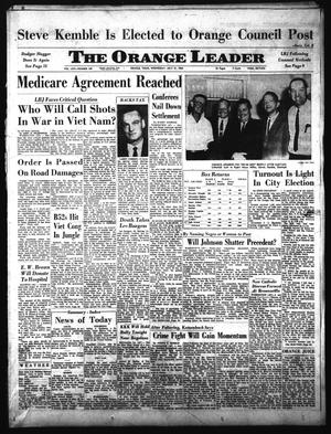 Primary view of object titled 'The Orange Leader (Orange, Tex.), Vol. 62, No. 169, Ed. 1 Wednesday, July 21, 1965'.
