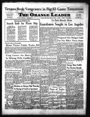 Primary view of object titled 'The Orange Leader (Orange, Tex.), Vol. 62, No. 190, Ed. 1 Friday, August 13, 1965'.