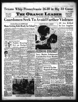 The Orange Leader (Orange, Tex.), Vol. 62, No. 191, Ed. 1 Sunday, August 15, 1965