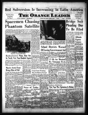 Primary view of object titled 'The Orange Leader (Orange, Tex.), Vol. 62, No. 198, Ed. 1 Monday, August 23, 1965'.
