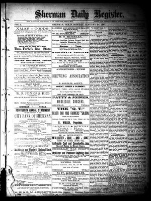 Sherman Daily Register (Sherman, Tex.), Vol. 2, No. 52, Ed. 1 Monday, January 24, 1887