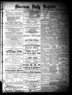 Primary view of object titled 'Sherman Daily Register (Sherman, Tex.), Vol. 2, No. 53, Ed. 1 Tuesday, January 25, 1887'.