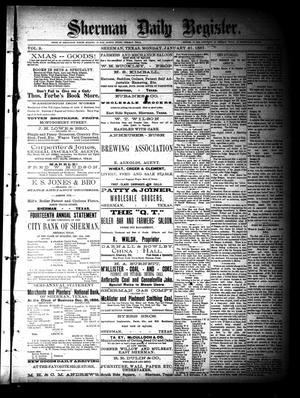 Sherman Daily Register (Sherman, Tex.), Vol. 2, No. 58, Ed. 1 Monday, January 31, 1887