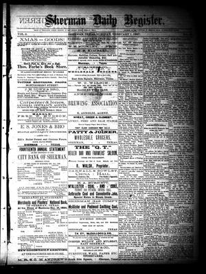Primary view of object titled 'Sherman Daily Register (Sherman, Tex.), Vol. 2, No. 59, Ed. 1 Tuesday, February 1, 1887'.