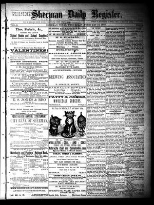 Sherman Daily Register (Sherman, Tex.), Vol. 2, No. 72, Ed. 1 Wednesday, February 16, 1887