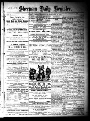 Sherman Daily Register (Sherman, Tex.), Vol. 2, No. 73, Ed. 1 Thursday, February 17, 1887
