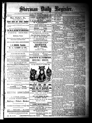 Sherman Daily Register (Sherman, Tex.), Vol. 2, No. 77, Ed. 1 Tuesday, February 22, 1887