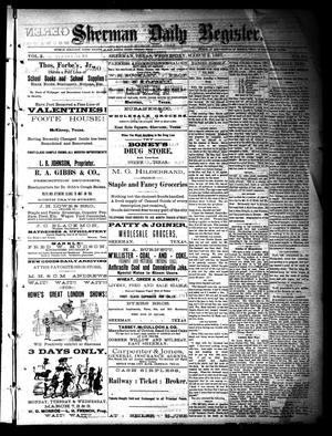 Sherman Daily Register (Sherman, Tex.), Vol. 2, No. 84, Ed. 1 Wednesday, March 2, 1887