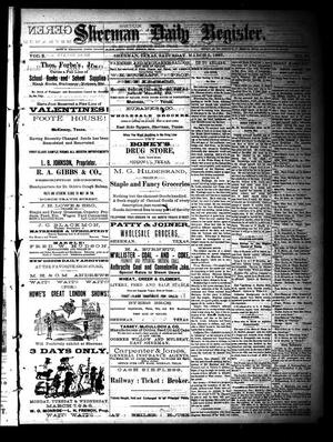 Primary view of object titled 'Sherman Daily Register (Sherman, Tex.), Vol. 2, No. 87, Ed. 1 Saturday, March 5, 1887'.