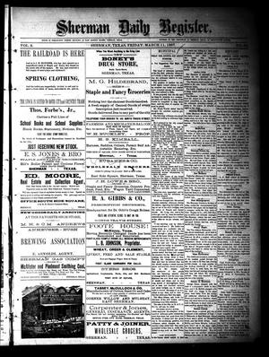 Sherman Daily Register (Sherman, Tex.), Vol. 2, No. 92, Ed. 1 Friday, March 11, 1887