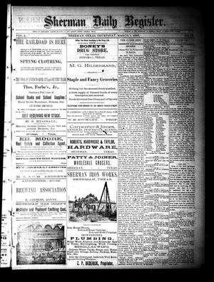 Primary view of object titled 'Sherman Daily Register (Sherman, Tex.), Vol. 2, No. 97, Ed. 1 Thursday, March 17, 1887'.