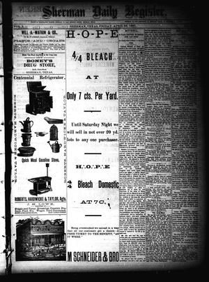Primary view of object titled 'Sherman Daily Register (Sherman, Tex.), Vol. 2, No. 128, Ed. 1 Friday, April 22, 1887'.