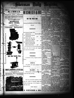 Primary view of object titled 'Sherman Daily Register (Sherman, Tex.), Vol. 2, No. 132, Ed. 1 Wednesday, April 27, 1887'.