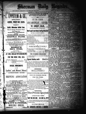 Sherman Daily Register (Sherman, Tex.), Vol. 2, No. 153, Ed. 1 Saturday, May 21, 1887