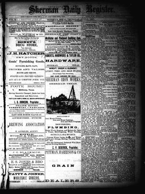 Primary view of Sherman Daily Register (Sherman, Tex.), Vol. 2, No. 169, Ed. 1 Thursday, June 9, 1887
