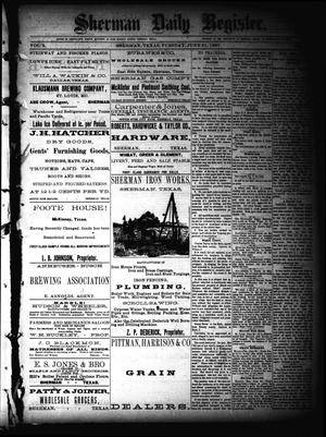 Sherman Daily Register (Sherman, Tex.), Vol. 2, No. 179, Ed. 1 Tuesday, June 21, 1887