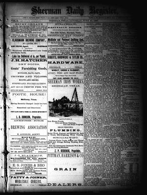 Primary view of object titled 'Sherman Daily Register (Sherman, Tex.), Vol. 2, No. 183, Ed. 1 Saturday, June 25, 1887'.