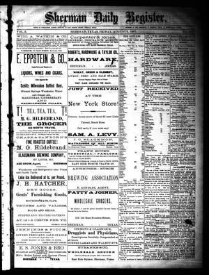 Sherman Daily Register (Sherman, Tex.), Vol. 2, No. 218, Ed. 1 Friday, August 5, 1887