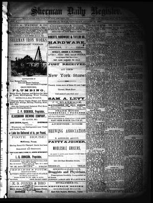 Sherman Daily Register (Sherman, Tex.), Vol. 2, No. 225, Ed. 1 Saturday, August 13, 1887