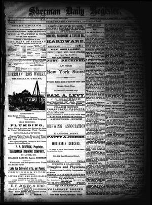 Sherman Daily Register (Sherman, Tex.), Vol. 2, No. 234, Ed. 1 Wednesday, August 24, 1887
