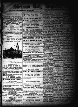 Sherman Daily Register (Sherman, Tex.), Vol. 2, No. 240, Ed. 1 Wednesday, August 31, 1887