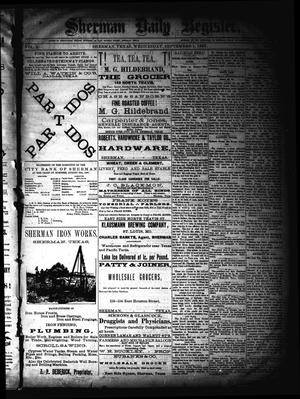 Sherman Daily Register (Sherman, Tex.), Vol. 2, No. 241, Ed. 1 Thursday, September 1, 1887