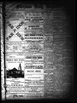 Primary view of object titled 'Sherman Daily Register (Sherman, Tex.), Vol. 2, No. 242, Ed. 1 Friday, September 2, 1887'.