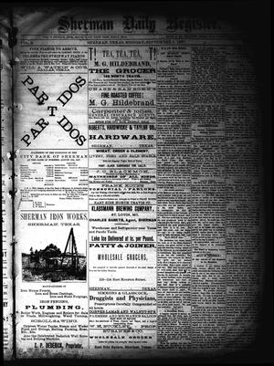 Primary view of object titled 'Sherman Daily Register (Sherman, Tex.), Vol. 2, No. 244, Ed. 1 Monday, September 5, 1887'.