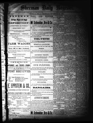 Sherman Daily Register (Sherman, Tex.), Vol. 2, No. 259, Ed. 1 Thursday, September 22, 1887