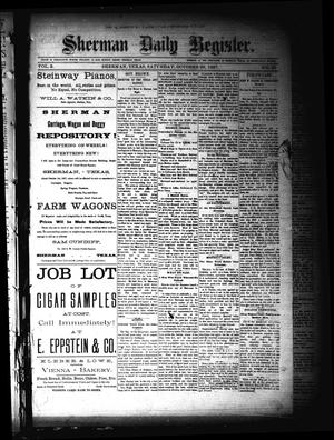 Primary view of Sherman Daily Register (Sherman, Tex.), Vol. 2, No. 291, Ed. 1 Saturday, October 29, 1887