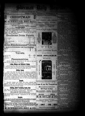 Sherman Daily Register (Sherman, Tex.), Vol. 3, No. 28, Ed. 1 Wednesday, December 28, 1887