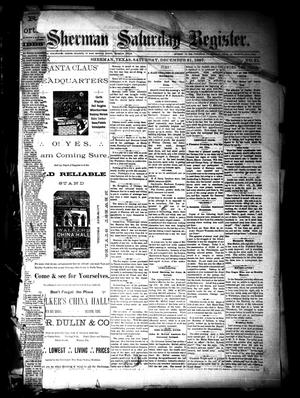 Sherman Daily Register (Sherman, Tex.), Vol. 3, No. 31, Ed. 1 Saturday, December 31, 1887