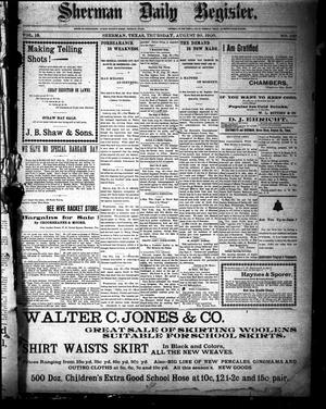 Sherman Daily Register (Sherman, Tex.), Vol. 15, No. 169, Ed. 1 Thursday, August 30, 1900