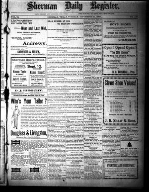 Sherman Daily Register (Sherman, Tex.), Vol. 15, No. 179, Ed. 1 Tuesday, September 11, 1900