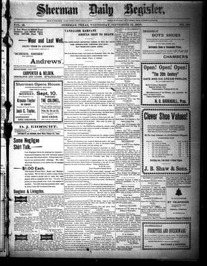 Sherman Daily Register (Sherman, Tex.), Vol. 15, No. 180, Ed. 1 Wednesday, September 12, 1900