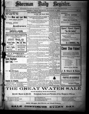 Sherman Daily Register (Sherman, Tex.), Vol. 15, No. 181, Ed. 1 Thursday, September 13, 1900